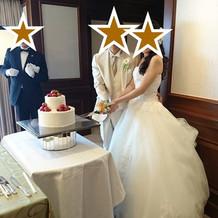 ウェディングケーキを用意しました。