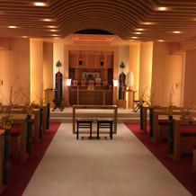 神殿。約50人入ります。