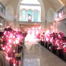 自然光が入る挙式会場