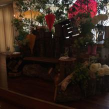 メインのテーブルがとても素敵でした!