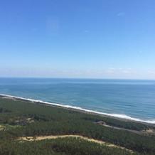 ここはブライダルサロンからの眺めです。