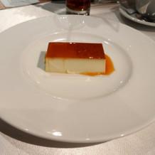 デザートはバニラの香り良いプディング