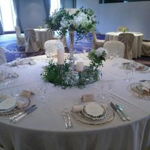 披露宴会場テーブル