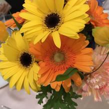 卓上のお花