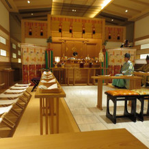 ホテル内の神殿