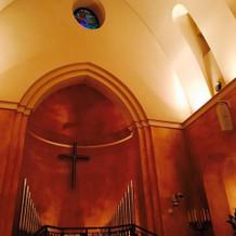教会内は温かい雰囲気でした