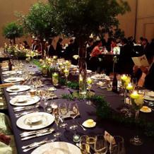 披露宴 テーブルの装飾