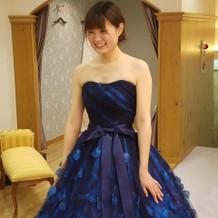 新作のドレス、一番乗り!