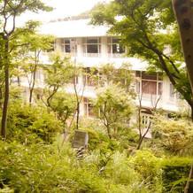 庭奥地からの施設