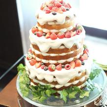 こだわったウエディングケーキ