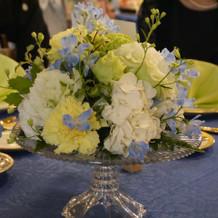 装花は会場を変えても終日利用できました。