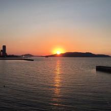 夕日がとてもきれいでした!