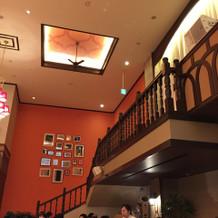 イタリア館屋内の階段