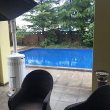 イタリア館の屋外プール