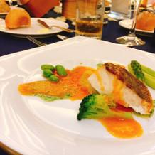 玄海産真鯛のポワレ