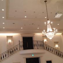披露宴会場の階段です。