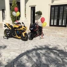 バイクとバルーン