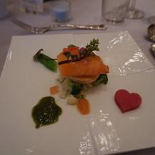 サーモンと春野菜のマリネ