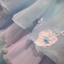 カラードレスの細かい部分