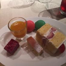 デザートが可愛く美味しかった。