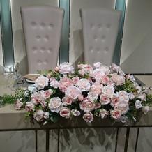メインテーブル装花②