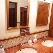 お手洗いの洗面所