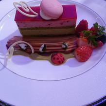 試食会ハーフコース デザート①