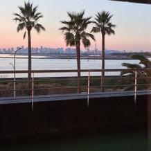 夕方になると海側の景色がとっても綺麗!