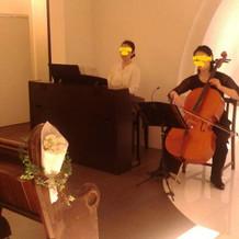式場でチェロの生演奏ははじめて