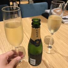 ご契約の記念にシャンパンを頂きました。