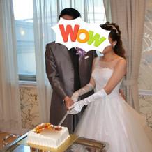 ケーキの小ささに驚愕。恥ずかしかった