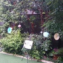 ガーデンにも装飾ができますよ。