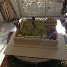 野球をモチーフにしたケーキが可愛かった
