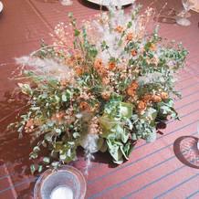 テーブルコーディネートのお花も素敵でした