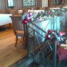 レストランもクリスマス装飾がされています