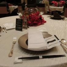 試食会時のテーブルセット
