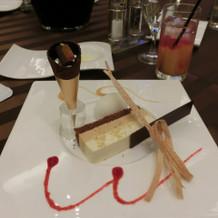 式当日のデザート