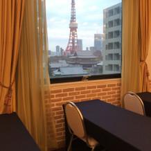 披露宴会場からの東京タワー