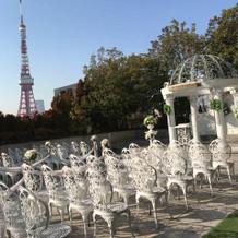 ガーデンチャペル 東京タワーが見えます