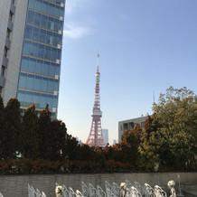 チャペルからの東京タワーが