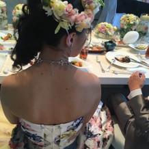 カクテルドレス 花冠