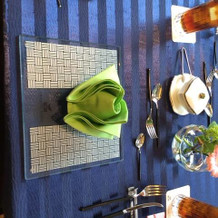 テーブル雰囲気。