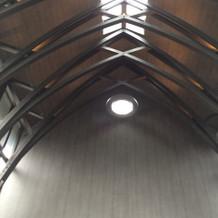 チャペル天井。