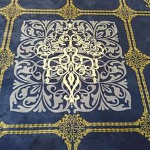 披露宴会場の絨毯