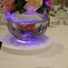 ゲストテーブルのライト