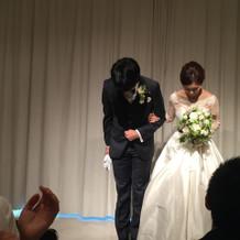 美しい花嫁でした。