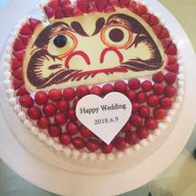 だるまケーキ目入れしました☆