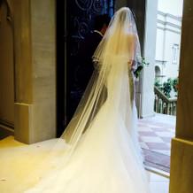 ウェディングドレスはマーメイドにしました