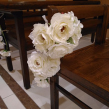 挙式会場2の装花