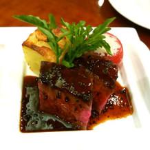 ブライダルフェアの肉料理